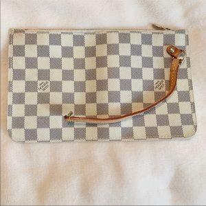 Louis Vuitton Style Neverfull Pouchette Azur Damier